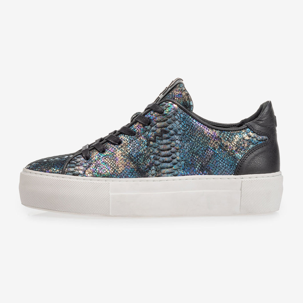 Floris Van Bommel sneaker snakeprint multi colour