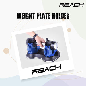 Reach Carbon Adjustable Dumbbell (Blue)