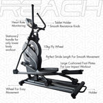 Load image into Gallery viewer, Detailed labelled diagram of the functions in a Reach CF-200 Elliptical Machine.