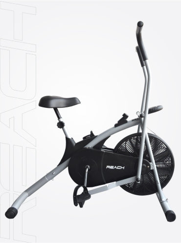 Silver Reach Air Bike (with moving handles) on a white background