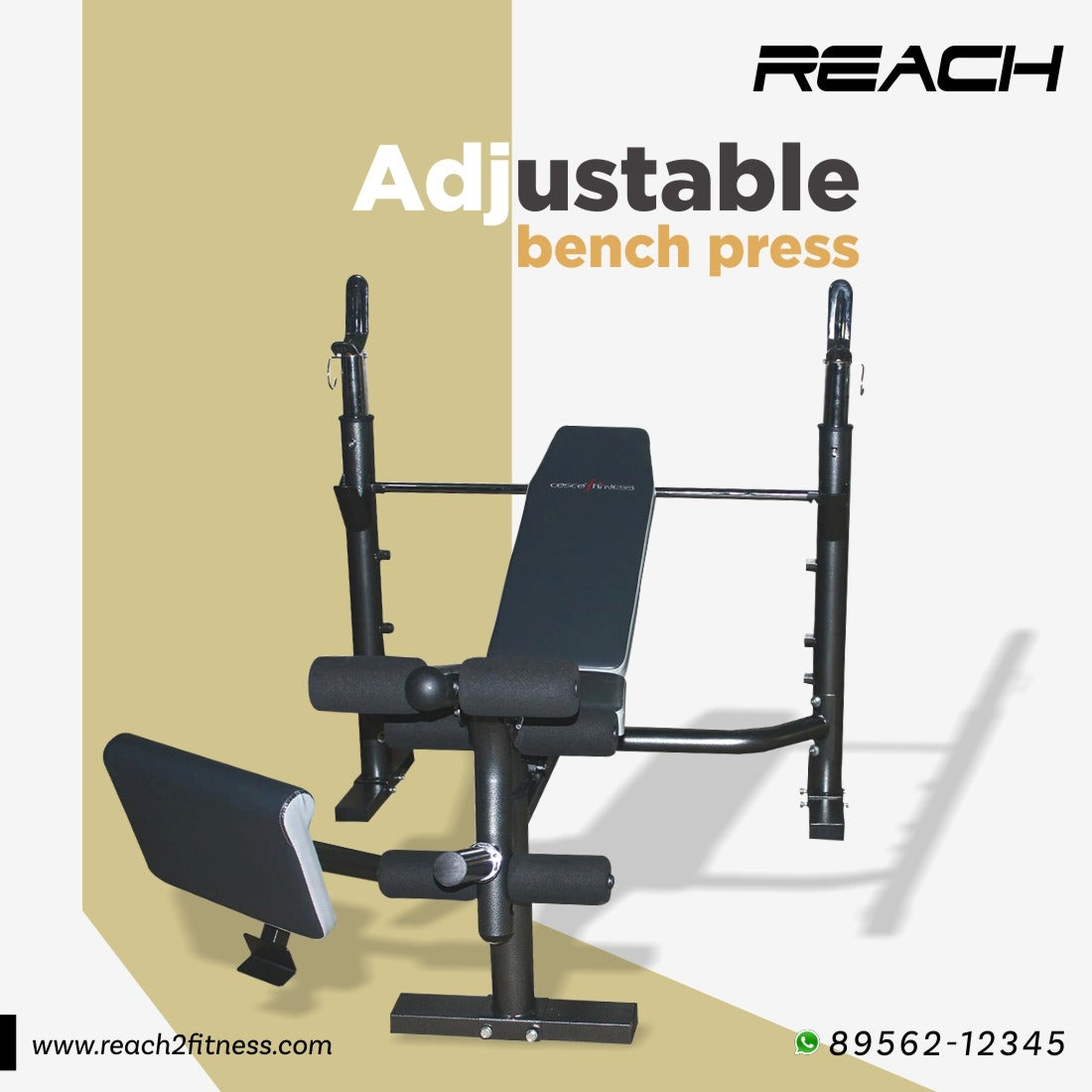 Olympic Adjustable Weight Bench Press