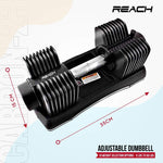 Load image into Gallery viewer, Reach Carbon Adjustable Dumbbell (Grey)