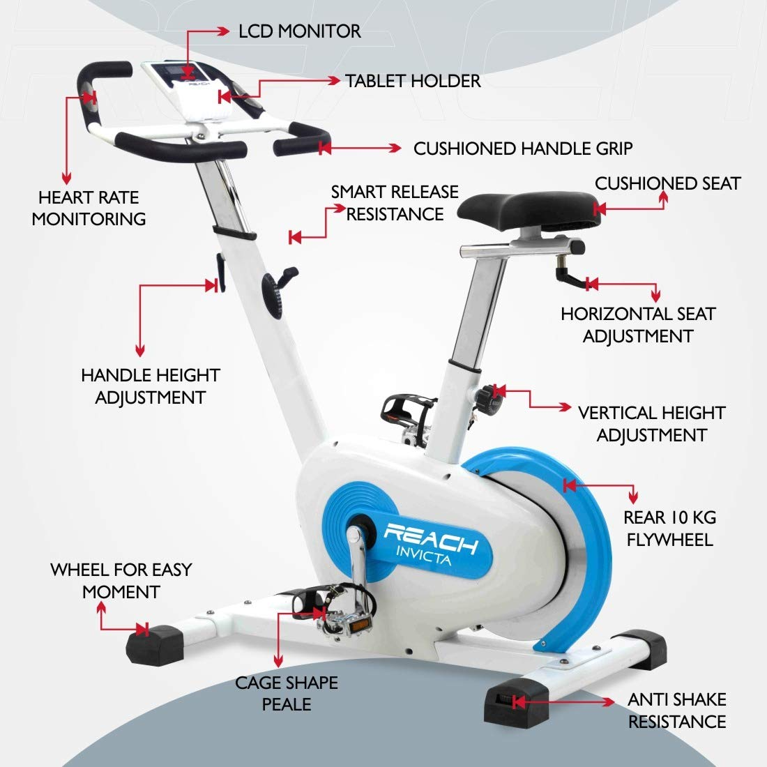 Reach Invicta Spin Bike