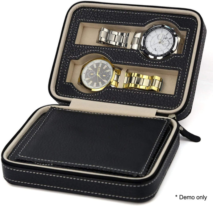 Watch Box Display Travel Case PU Leather - My Bonza Deals