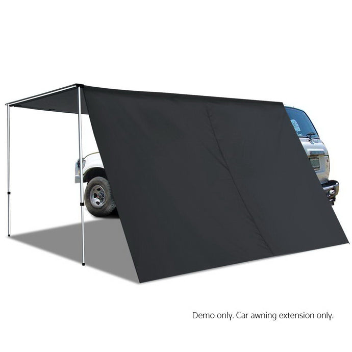 Car Shade Awning Extension 3 x 2M - Charcoal Black - My Bonza Deals