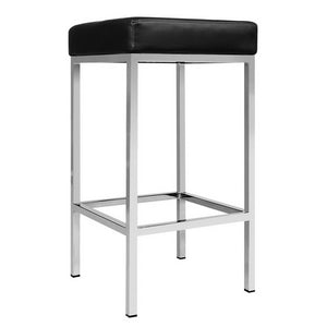 Artiss Set of 2 PU Leather Backless Bar Stools - Black - My Bonza Deals