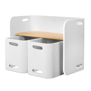 Artiss Kids Table and Chair Set Study Desk Dining White - My Bonza Deals