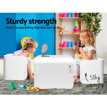 Load image into Gallery viewer, Artiss Kids Table and Chair Set Study Desk Dining White - My Bonza Deals