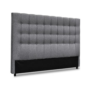 Artiss Queen Size Upholstered Fabric Headboard - Grey - My Bonza Deals