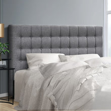 Load image into Gallery viewer, Artiss Queen Size Upholstered Fabric Headboard - Grey - My Bonza Deals