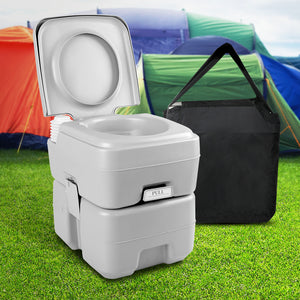 Weisshorn 20L Outdoor Portable Toilet Camping Potty Caravan Travel Boating wtih Carry Bag - My Bonza Deals