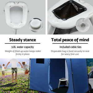 Outdoor Portable Folding Camping Toilet - My Bonza Deals
