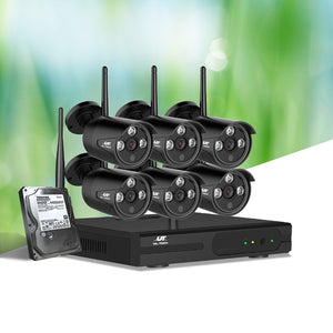 UL-Tech CCTV Wireless Security System 2TB 8CH NVR 1080P 6 Camera Sets - My Bonza Deals