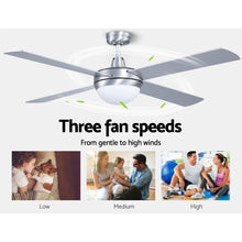 "Load image into Gallery viewer, Devanti 52 Ceiling Fan with Light Silver"" - My Bonza Deals"