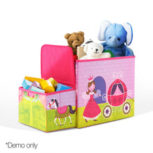 Load image into Gallery viewer, Kids Storage Toy Box Foldable Organiser - Pink - My Bonza Deals