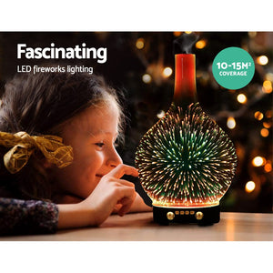 Aroma Diffuser 3D LED Light Oil Firework Air Humidifier 100ml - My Bonza Deals