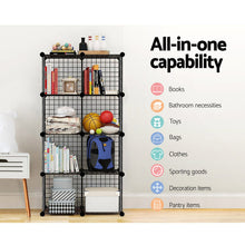 Load image into Gallery viewer, 16 Cube Metal Wire Storage Cabinet - Black - My Bonza Deals