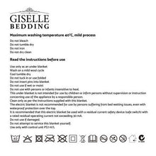 Load image into Gallery viewer, Giselle Heated Electric Blanket Washable Fully Fitted Polyester Underlay Pad Double