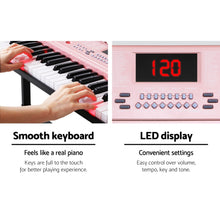 Load image into Gallery viewer, Alpha 61 Key Lighted Electronic Piano Keyboard LED Electric Holder Music Stand