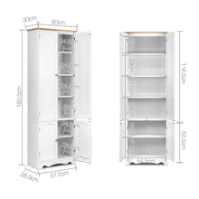 Load image into Gallery viewer, Artiss 6 Tier Wooden Kitchen Pantry Cabinet - White - My Bonza Deals
