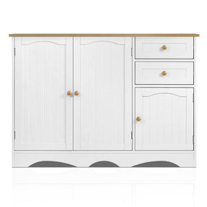 Artiss Buffest Sideboard Hallway Entrance Table - White - My Bonza Deals