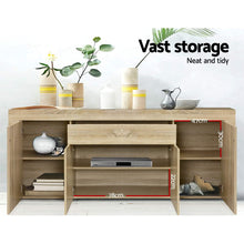 Load image into Gallery viewer, Artiss Buffet Sideboard Cabinet Storage 4 Doors Cupboard Hall Wood Hallway Table - My Bonza Deals