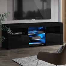 Load image into Gallery viewer, Artiss TV Cabinet Entertainment Unit Stand RGB LED Gloss Furniture 160cm Black