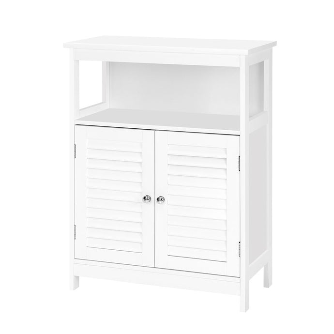 Buffet Sideboard Cabinet Kitchen Bathroom Storage Cupboard Hallway White Shelf