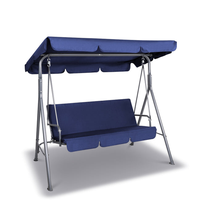 Gardeon Canopy Swing Chair - Navy - My Bonza Deals