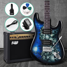 Load image into Gallery viewer, Alpha Electric Guitar And AMP Music String Instrument Rock Blue Carry Bag Steel String