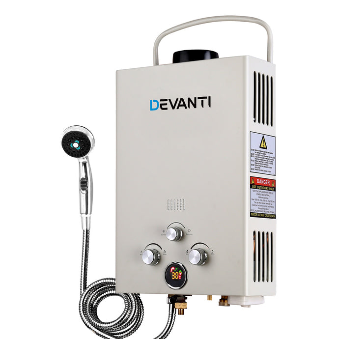 Devanti Portable Gas Hot Water Heater and Shower - My Bonza Deals