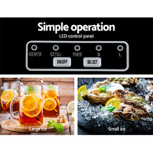 Load image into Gallery viewer, DEVANTi Portable Ice Cube Maker Machine 2L Home Bar Benchtop Easy Quick Black