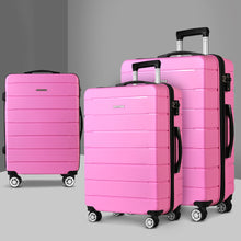 Load image into Gallery viewer, Wanderlite 3PC Luggage Suitcase Trolley - Pink - My Bonza Deals