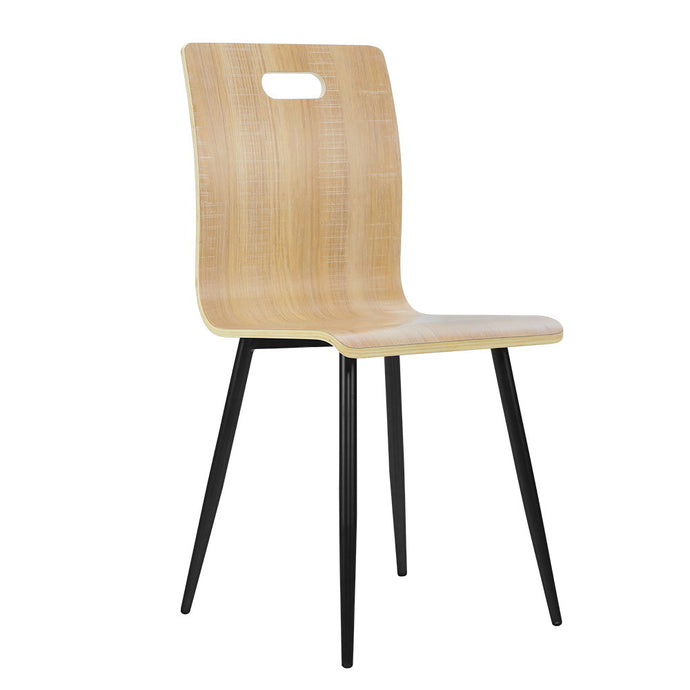 4x Artiss Dining Chairs Bentwood Seater Metal Legs Cafe Kitchen Chair Wooden - My Bonza Deals