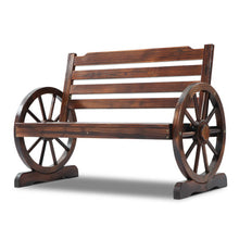 Load image into Gallery viewer, Gardeon Wooden Wagon Wheel Bench - Brown - My Bonza Deals