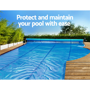 Aquabuddy Swimming Pool Cover Roller Reel Adjustable Solar Thermal Blanket - My Bonza Deals