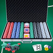 Load image into Gallery viewer, Poker Chip Set 1000PC Chips TEXAS HOLD'EM Casino Gambling Dice Cards