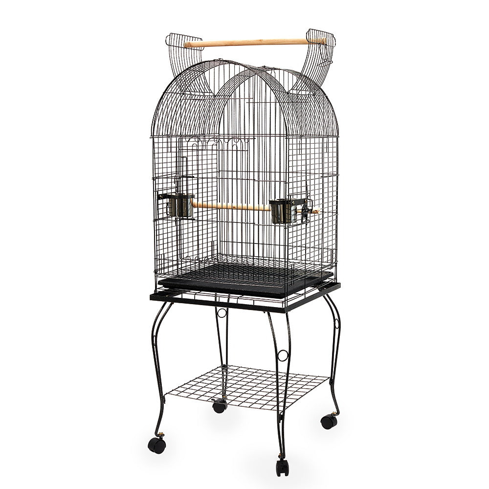 i.Pet Large Bird Cage with Perch - Black - My Bonza Deals