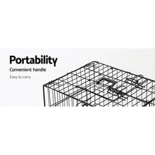 Load image into Gallery viewer, i.Pet 48inch Collapsible Pet Cage with Cover - Black & Green
