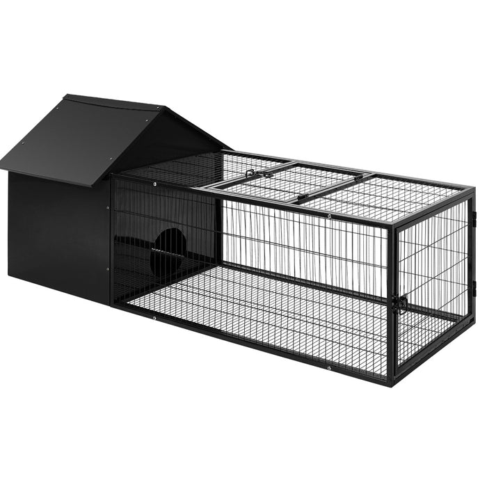 i.Pet Rabbit Cage Hutch Cages Indoor Outdoor Hamster Enclosure Pet Metal Carrier 162CM Length - My Bonza Deals