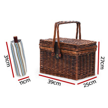 Load image into Gallery viewer, Alfresco Deluxe 4 Person Picnic Basket Set Folding Outdoor Insulated Liquor bag - My Bonza Deals