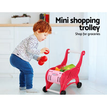 Load image into Gallery viewer, Keezi Kids Kitchen and Trolley Playset - Red - My Bonza Deals