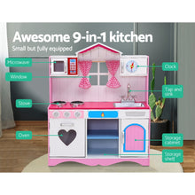 Load image into Gallery viewer, Keezi Kids Kitchen Set Pretend Play Food Sets Childrens Utensils Toys Pink - My Bonza Deals