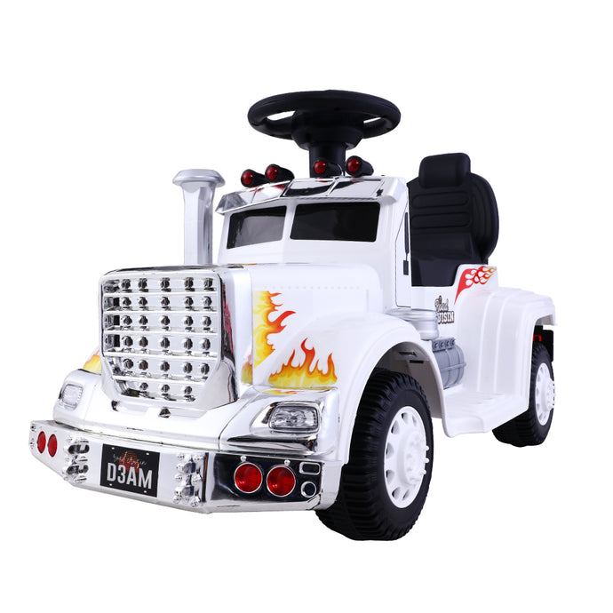 Ride On Cars Kids Electric Toys Car Battery Truck Childrens Motorbike Toy Rigo White - My Bonza Deals