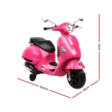 Load image into Gallery viewer, Rigo Kids Ride On Motorbike Vespa Licensed Motorcycle Car Toys Pink - My Bonza Deals