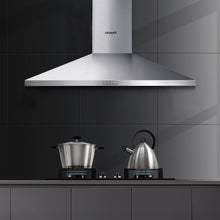Load image into Gallery viewer, Devanti Range Hood 90cm 900mm Kitchen Canopy Stainless Steel Rangehood Wall Mount - My Bonza Deals