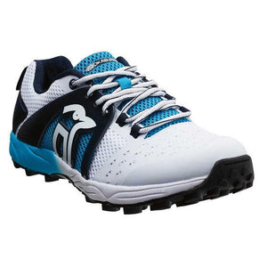Kookaburra Pro 2000 Rubber White/Blue Junior Cricket Shoe - My Bonza Deals