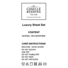 Load image into Gallery viewer, Giselle Bedding King Size 4 Piece Micro Fibre Sheet Set - Apple - My Bonza Deals