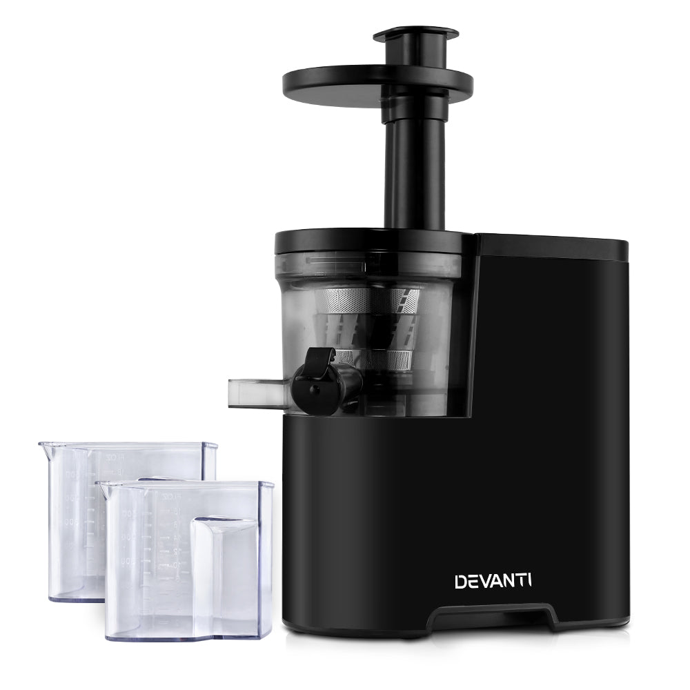 Devanti Cold Press Slow Juicer Black - My Bonza Deals