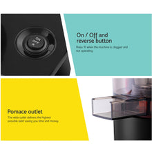 Load image into Gallery viewer, Devanti Cold Press Slow Juicer Black - My Bonza Deals